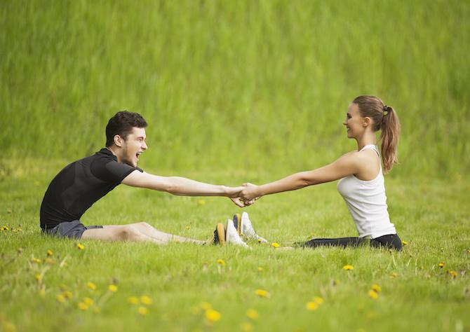 yoga coppia terra