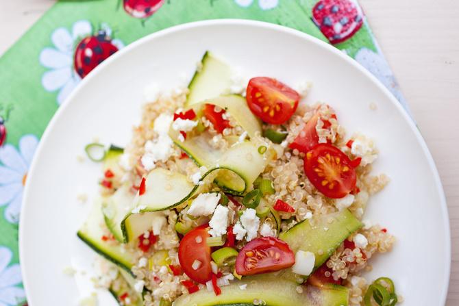 quinoa sesamo zucchine