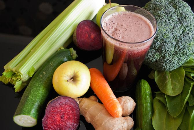 centrifugato zenzero verdura