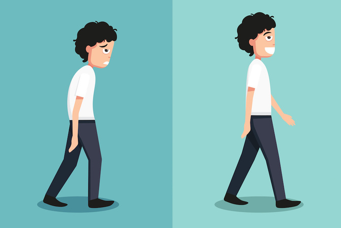 postura camminata