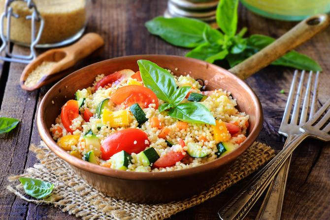 Insalata di farro e verdure grigliate