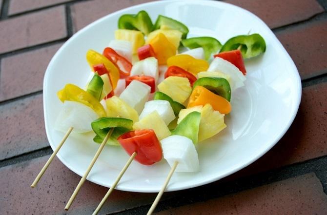 ananas ricette spiedini