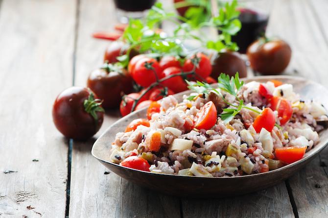 magnesio insalata riso