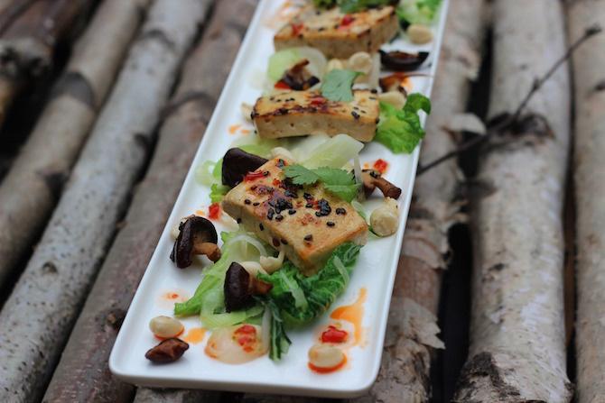 curcuma tofu marinato