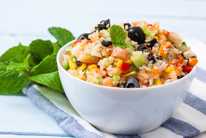 insalata cereali quinoa