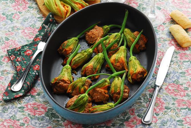 dieta mediterranea fiori di zucca ripieni