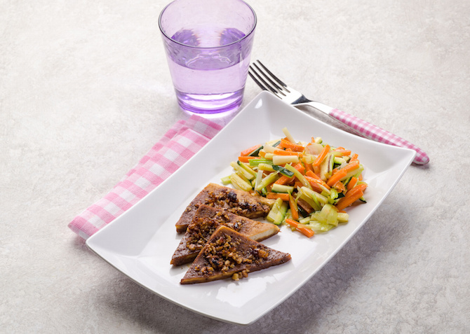 tofu zucchine carote zuppa