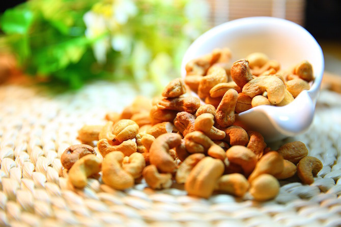 semi dieta vegetariana anacardi