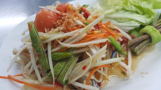 ricetta vegana thailandese insalata papaya