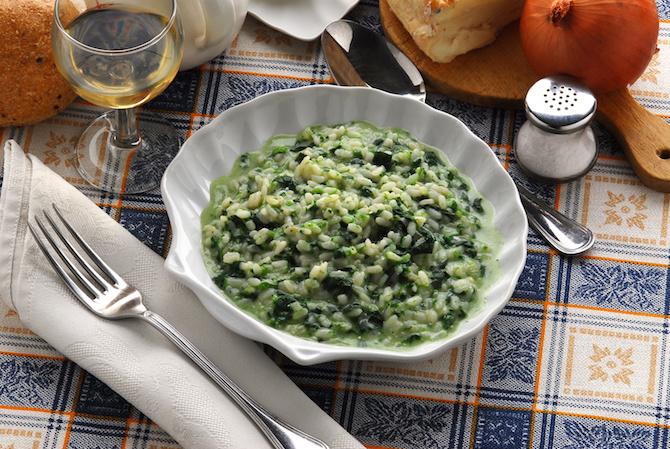 spinaci ricetta riso