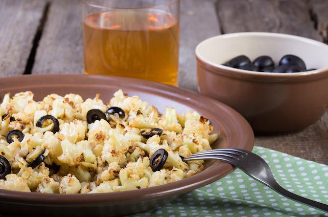 ricette dieta novembre cavolfiore olive