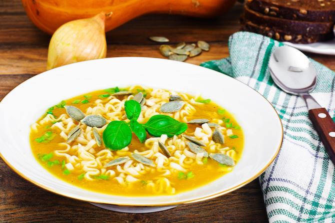 zuppa macrobiotica miso zucca