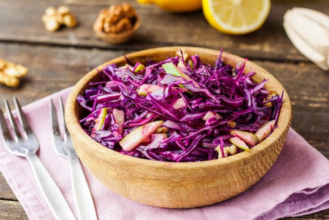 dieta dicembre ricettta insalata verza