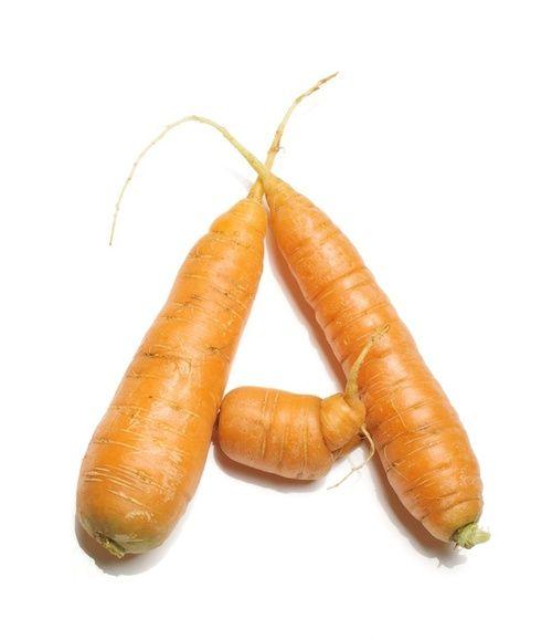 Carote ricche di vitamina A