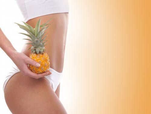 Ananas nell'alimentazione contro la cellulite