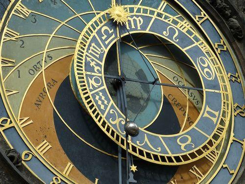 Orologio astronomico di Praga con le fasi lunari