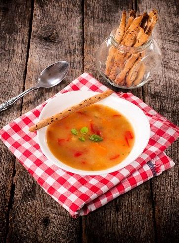 Zuppa di carote e zucca ai semi di lino