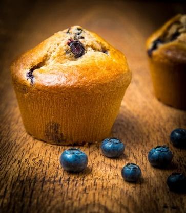 Muffin allo yogurt con mirtilli