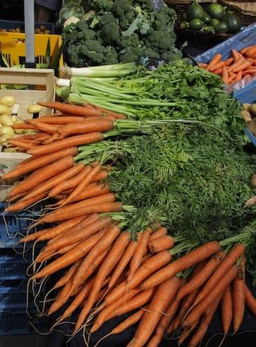 Carote, ricche di pro-vitamina A e vitamina A