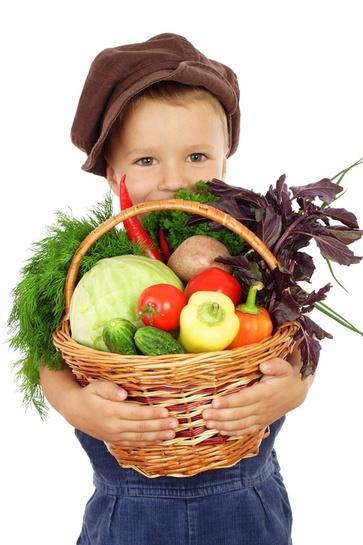 Le verdure nel cesto di agosto