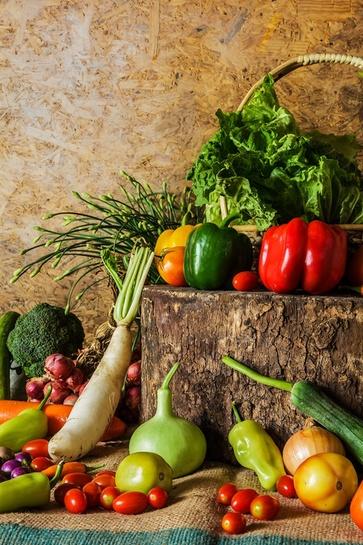 Le verdure nel cesto di ottobre