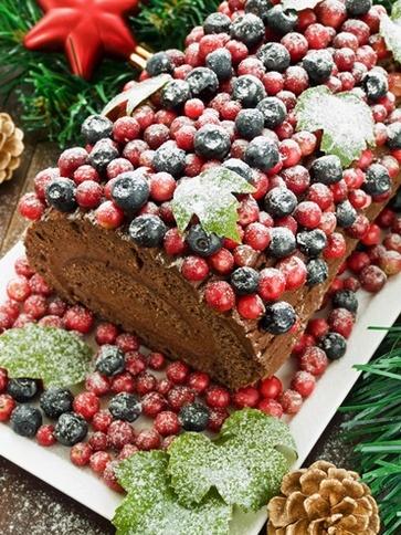 Tronchetto di Natale al cacao