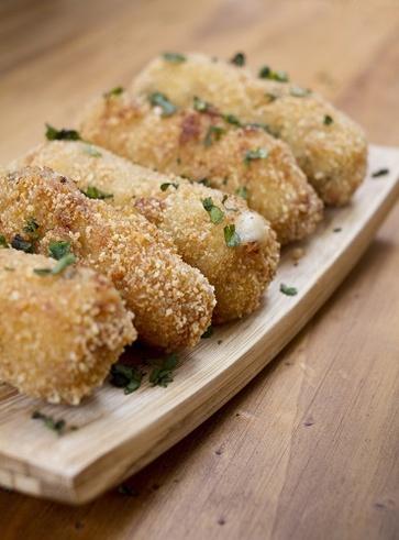 Crocchette di patate con semi di lino