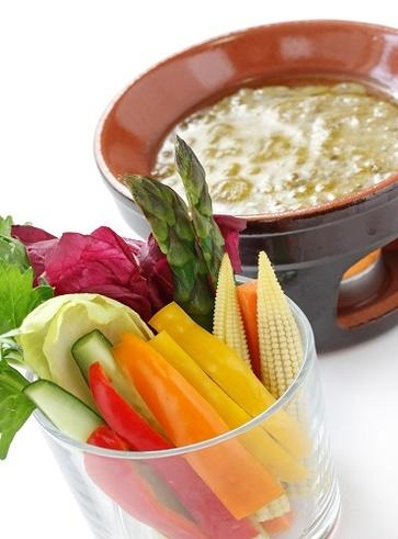 Bagna cauda vegetariana all'olio di noci