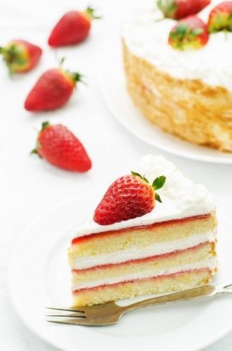 Torta panna e fragole per la mamma