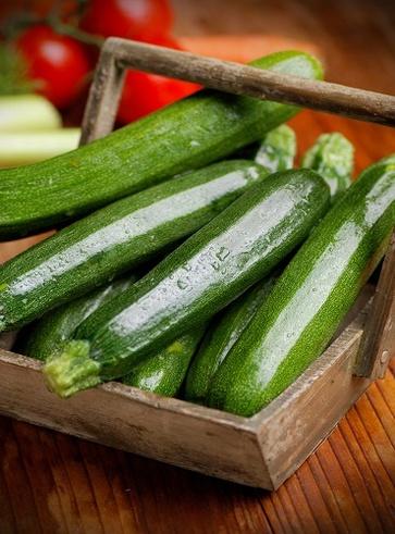 La zucchina per l'abbronzatura