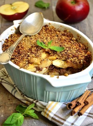 Veg crumble di mele, cannella e zenzero