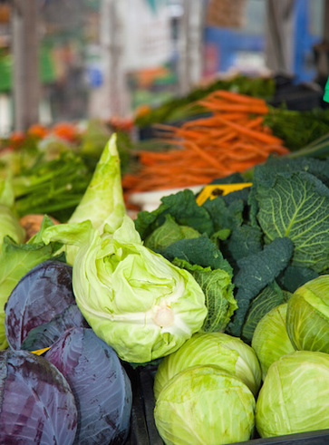 Verdure a foglia verde scuro. Cavoli che buoni!