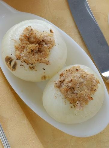 Cipolle bianche ripiene (versione vegan)