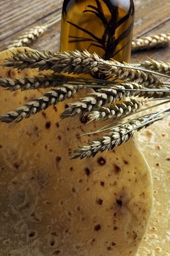 Piadina con olio all'aglio selvatico