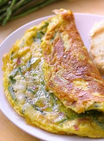 """Frittata"" vegana di asparagi"