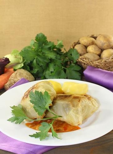 Involtini veg di verza e patate