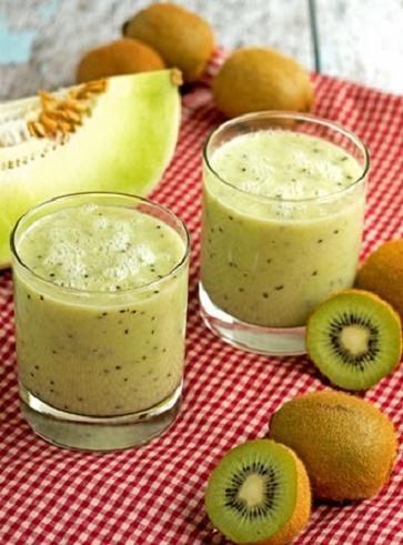 Frullato kiwi e melone giallo