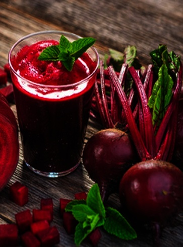 Smoothie rosso di gennaio
