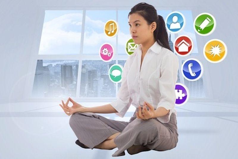 Lezioni di meditazione con un'app
