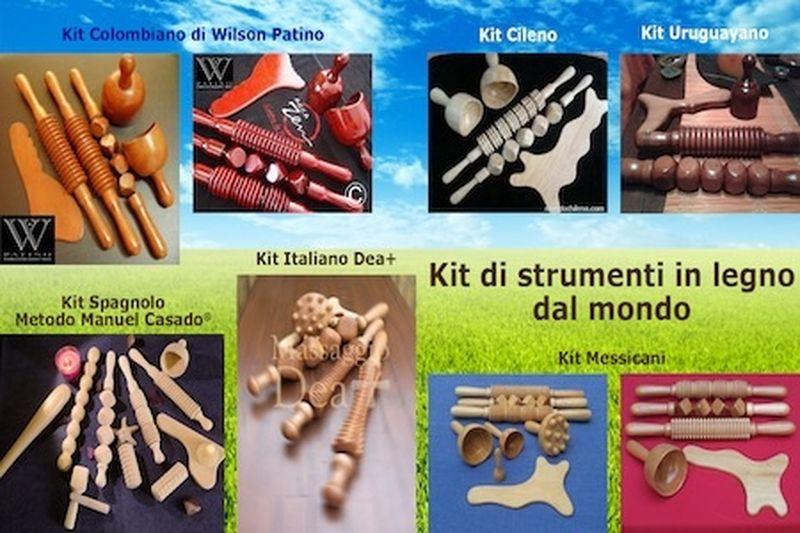 Gli strumenti in legno per il Massaggio estetico drenante modellante