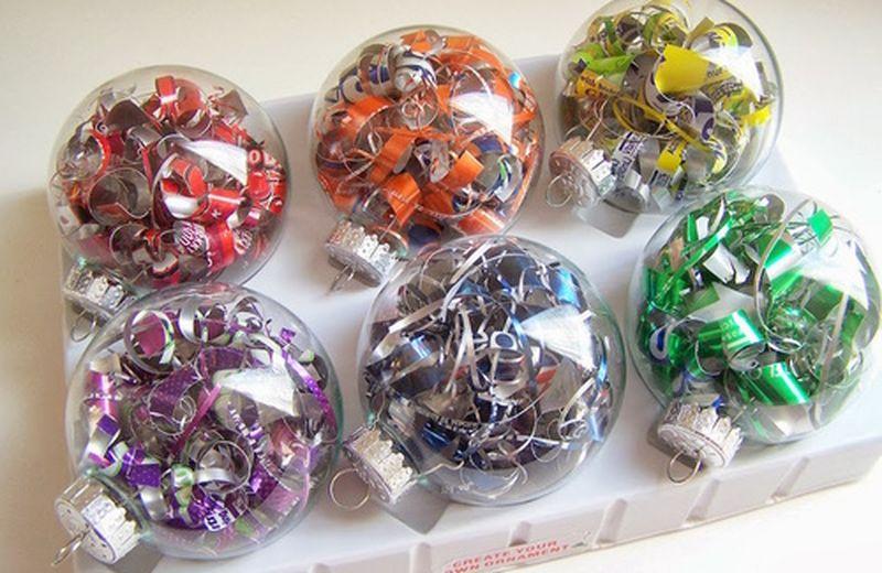 Le decorazioni natalizie con materiale riciclato