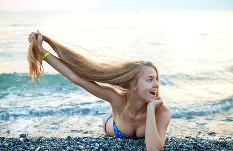 Capelli bellissimi anche al mare
