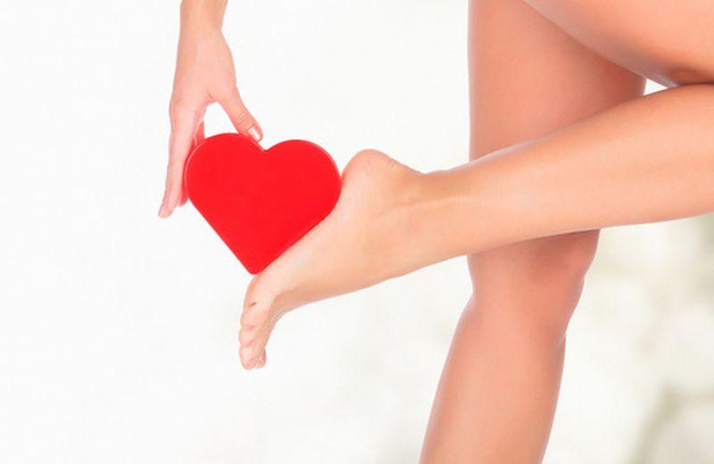 Le zone riflesse del piede: il cuore