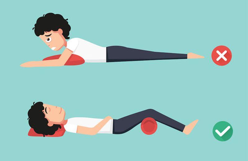 La corretta postura per dormire bene