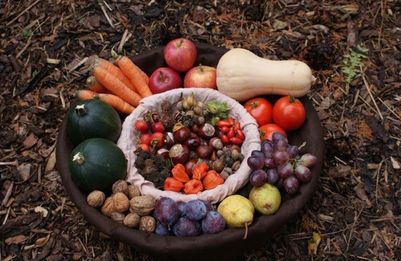 Frutta e verdura dell'autunno