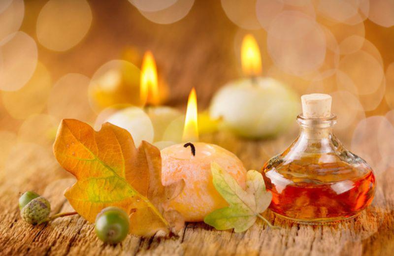 Miscela di oli essenziali per purificare la casa in autunno