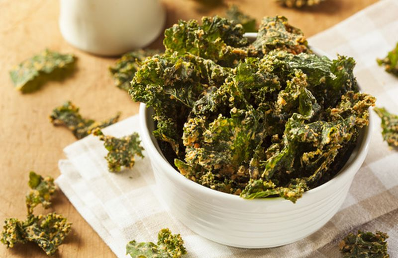 Chips di kale, il cavolo riccio