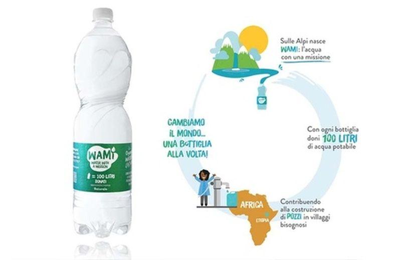 Wami: la bottiglia per regalare acqua potabile