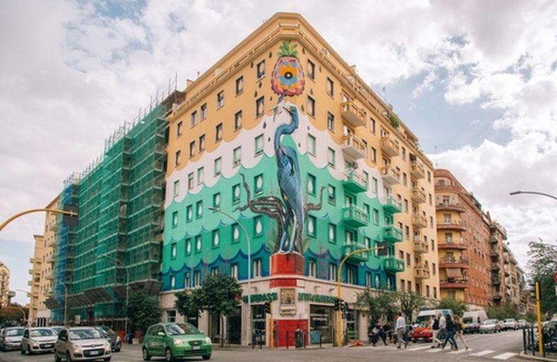 A Roma un murale ecologico